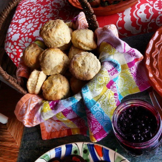 Organic Vegan Lemon Maple Scones with Berry Fabulous Jam
